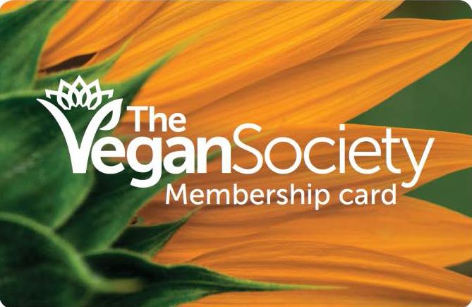 Vegan Society Membership Card Zensations